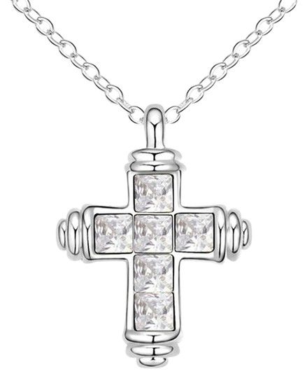 Preload https://item5.tradesy.com/images/clear-austrian-crystal-cross-pendant-172-inches-adjustable-necklace-6145174-0-2.jpg?width=440&height=440