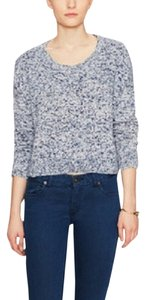 Avaleigh Marle Crewneck Crop Knit Cotton Longsleeve Knit Sweater