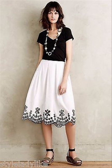 Anthropologie Poplin Eyelet By Moulinette Soeurs Skirt