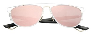 Dior Technologic 57MM Pantos Sunglasses White/Black/Rose Mirror