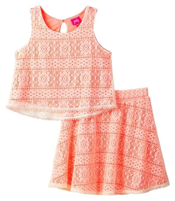 Preload https://item3.tradesy.com/images/coral-with-ivory-pinky-2-pc-crochet-overlay-tank-juniors-skirt-suit-size-os-one-size-6146482-0-0.jpg?width=400&height=650