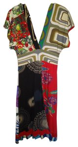 Desigual short dress Multi Colorful Color Kimono on Tradesy