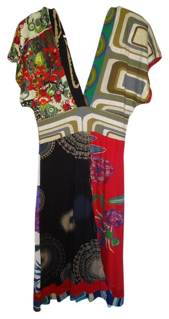 Desigual short dress Multi Colorful Color Kimono Sleeveless on Tradesy