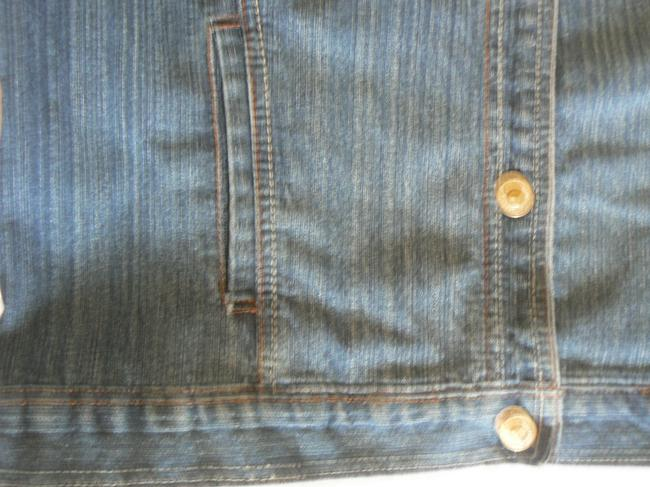 Coldwater Creek Women's Size Small 5 Button Front 4 Front Denim Blue Womens Jean Jacket