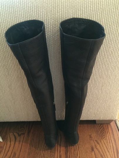 Giuseppe Zanotti Pebbled Calf Leather Over-the-knee Black Boots