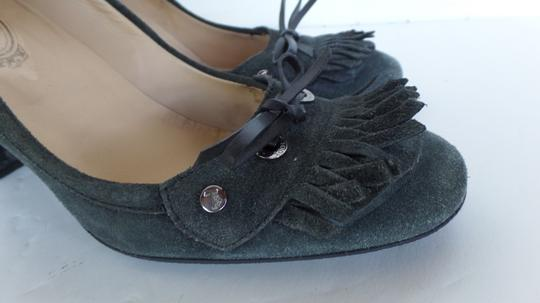 Tod's Tassels Suede 40.5 9.5 Gray Pumps