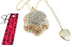 Betsey Johnson Betsey Johnson 3d Pentagram Crystal Necklace