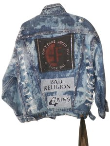 Levi- Custom altered Punk Punk Fashions denim Womens Jean Jacket