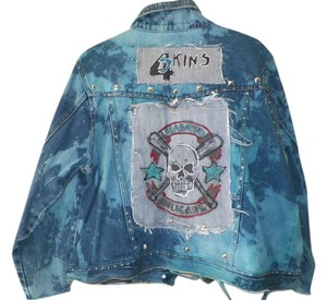 Bill Blass - Custom altered Punk Punk Fashions denim Womens Jean Jacket