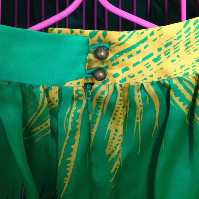 Sariah Skirt Green, yellow, black