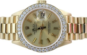Rolex Ladies Rolex Presidential Datejust 18K Gold Diamond Watch