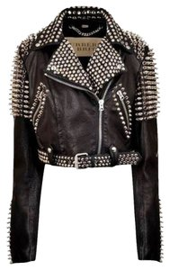 Burberry Brit Biker Motocycle Leather Motorcycle Jacket
