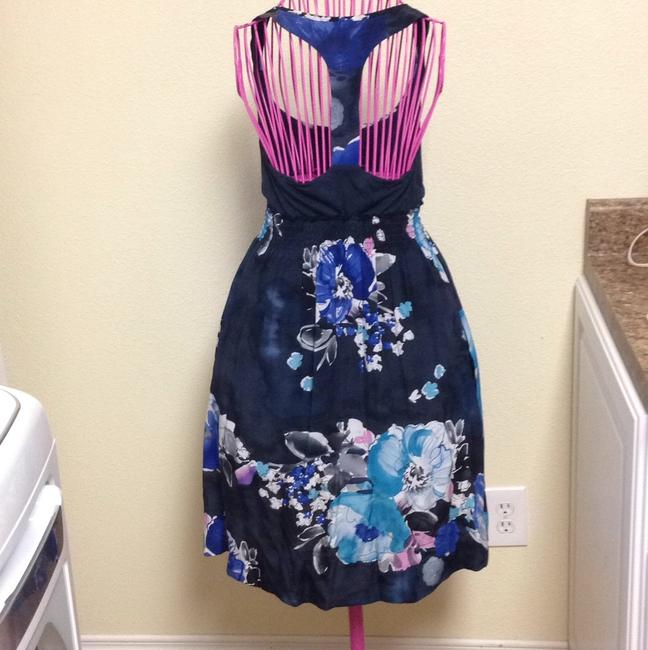 Matty M short dress Navy, blues, pink , cream, white on Tradesy