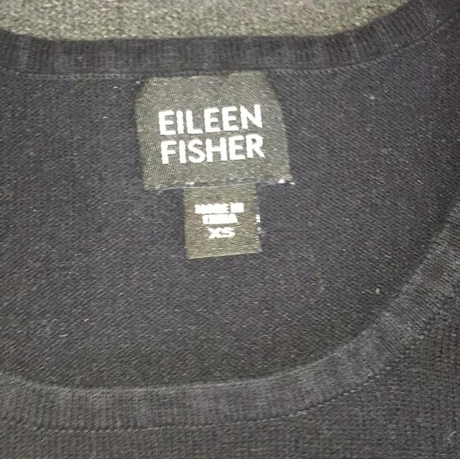 Eileen Fisher New Top Black with white stripes