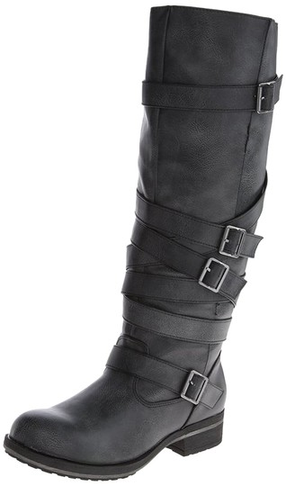 Lilith Ladies Motorcycle Brown,Black Boots