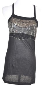 Thomas Wylde Wylde Rhinestone Embelished Tunic Size Small Top Black