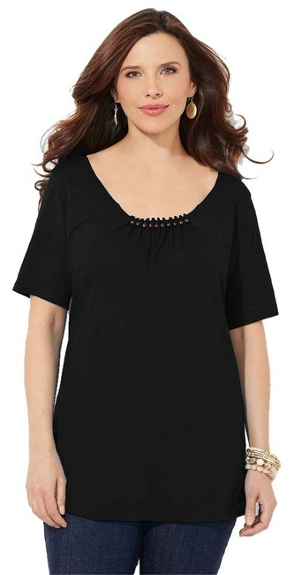 Preload https://item2.tradesy.com/images/catherines-cotton-made-in-indonesia-top-black-6149986-0-0.jpg?width=400&height=650