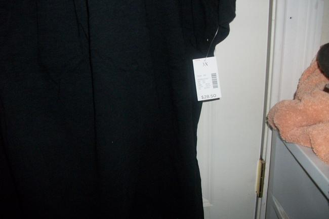 Catherines Cotton Made In Indonesia 26/28 W Plus Top black