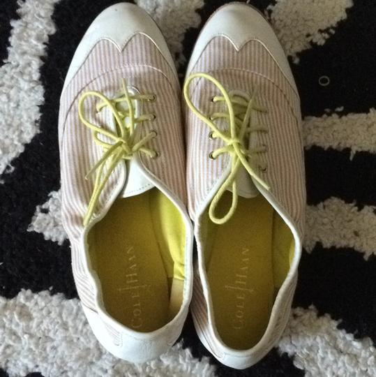 Cole Haan White, tan and yellow Flats