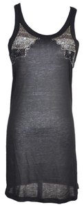 Thomas Wylde Wylde Rhinestone Embelished Tunic Top Black