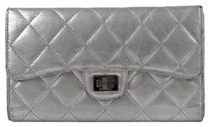 Chanel CHANEL RARE TRIFOLD Silver Wallet