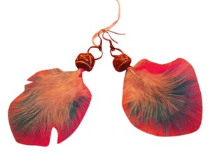 Beautiful custom Feather Earrings Beautiful Feather Multi Color Earrings FE0001
