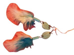 Beautiful custom Feather Earrings Beautiful Feather Multi Color Earrings