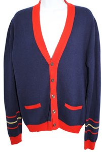 Jaeger Vintage Navy Blue Knit Sweater