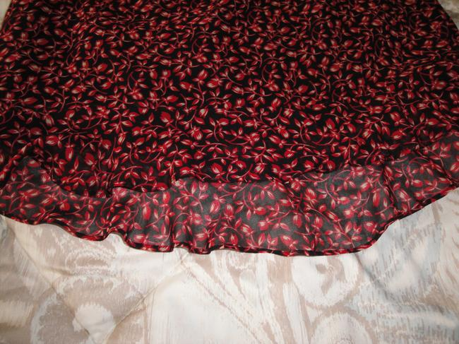 INC International Concepts Skirt red, black with a touch of beige