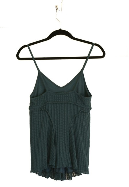 A|X Armani Exchange A/x Knit Women Clothing Tunic Spaghetti Green Teal Solid New Nwt Size 4-6 Small Built-in Bra Top Teal Green