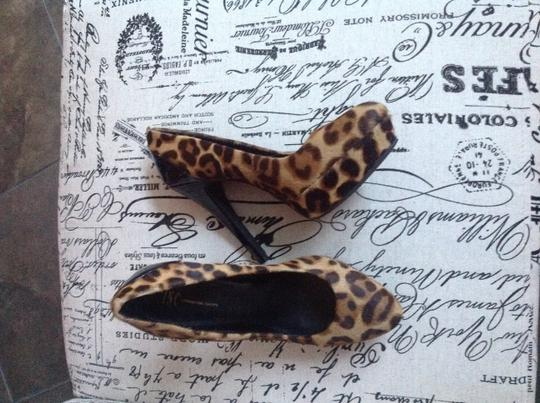 Steve Madden Leopard and Patent Leather Pumps