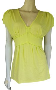 Gianni Bini Citron Cotton Top Lime