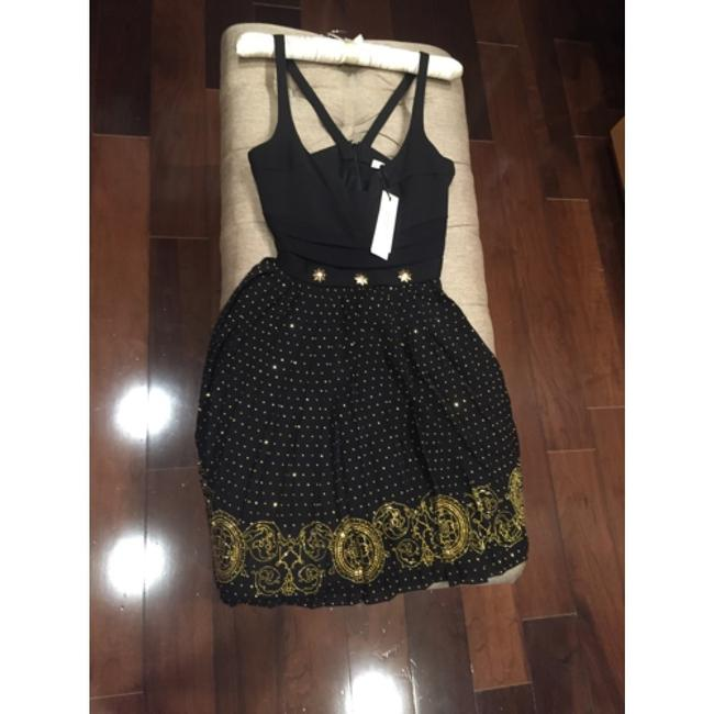 Versace Studded Medusa Star Fit And Flare Holiday Dress