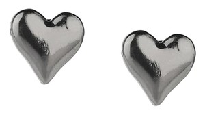 Marc by Marc Jacobs NEW Marc by Marc Jacobs Heart Studs - Gun Metal Earrings