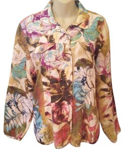 Chico's Linen Floral Jacket