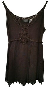 Nicole Miller Stretchy Comfortable Top Brown
