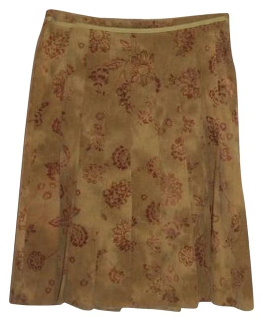 Ronen Chen Corduroy Pleated Green S Small Skirt Olive