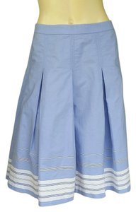J.Crew Cotton Blend Pleated Skirt Blue