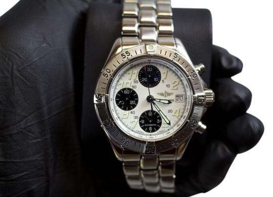 Breitling * Breitling Chronograph Stainless Steel Mens Watch A13335