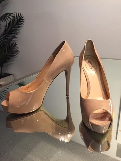 Guess Patent Leather Nude Pumps