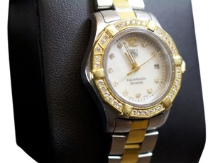 TAG Heuer TAG HEUER Aquaracer Mother of Pearl Stainless Steel and 18kt Gold
