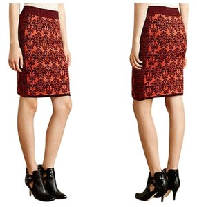 Anthropologie Jacquard Sweaterknit Pencil Skirt