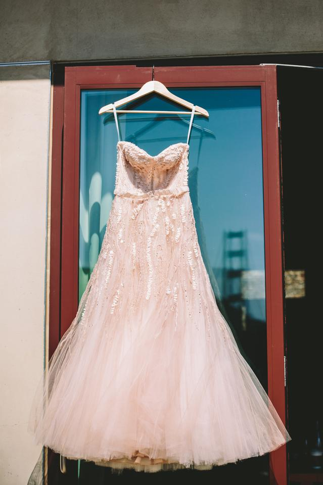 Monique Lhuillier Blush Beaded Tulle Candy Formal Wedding Dress Size ...