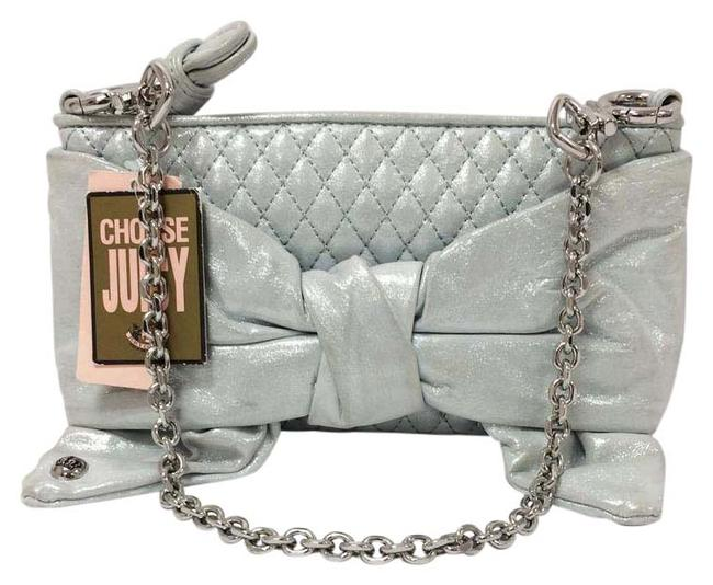 Item - Flair Polka Dot Bow Mint Green Leather Clutch