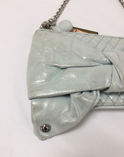 Juicy Couture Polka Dot Flair Bow Mint Green Clutch