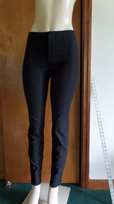 Helmut Lang Viscose Liquid Size 2 Black Leggings