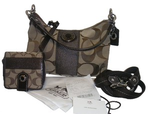 afeda82b3fd Coach Signature Khaki Demi Purse A1320-f19218 with New with Tag Matching  Wallet Cross Body Bag