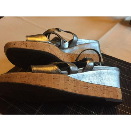 Paul Green Silver Wedges
