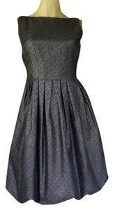 Maggy London Metallic Bubble Hem Dress