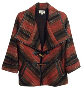 Jolt Jacket Tribal Sweater Red Black Coat